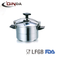 aluminum high pressure cooker dishwasher frypan with glass ild